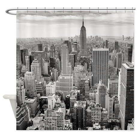 New York City Skyscrapers Shower Curtain By