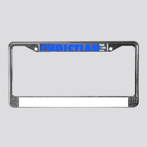 Made of words name CHRISTIAN License Plate Frame