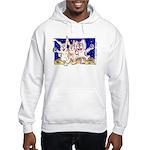 Cute Cartoon Rabbit Moon Hooded Sweatshirt