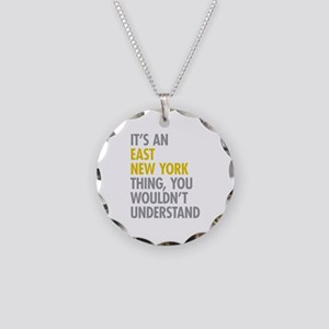 East New York Thing Necklace Circle Charm