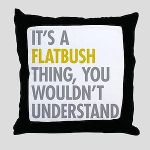 Flatbush Thing Throw Pillow