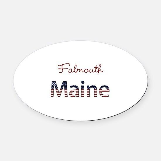 Custom Maine Oval Car Magnet