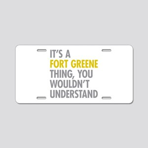 Fort Greene Thing Aluminum License Plate