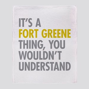 Fort Greene Thing Throw Blanket