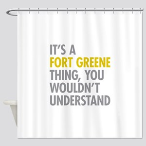 Fort Greene Thing Shower Curtain