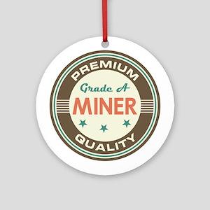 Miner Vintage Ornament (Round)