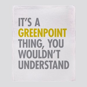 Greenpoint Thing Throw Blanket