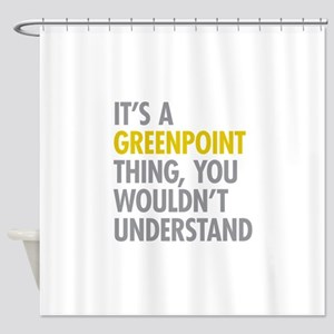 Greenpoint Thing Shower Curtain