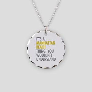 Manhattan Beach Thing Necklace Circle Charm