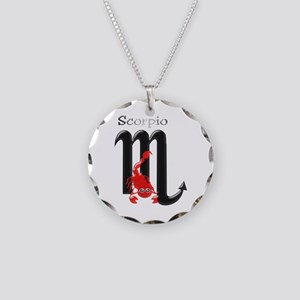 Scorpio Star Sign Necklace Circle Charm