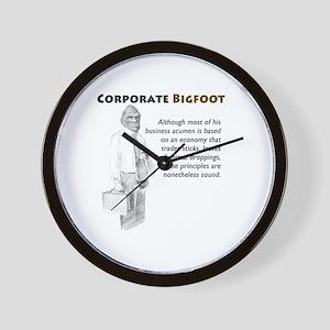 Corporate Bigfoot Wall Clock