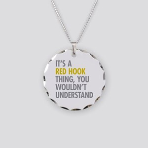 Red Hook Thing Necklace Circle Charm