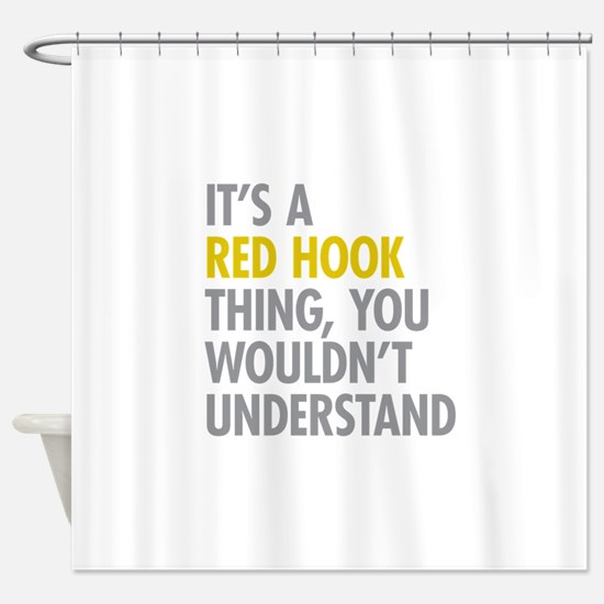 Red Hook Thing Shower Curtain