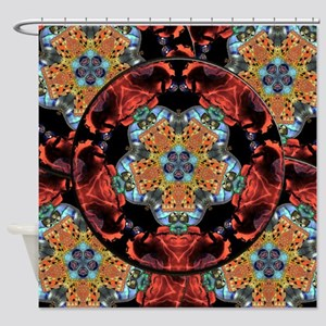 Suzani Mandala Shower Curtain
