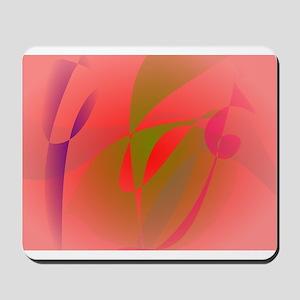 Salmon Pink and Green Tea Mousepad