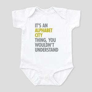 Alphabet City Thing Infant Bodysuit