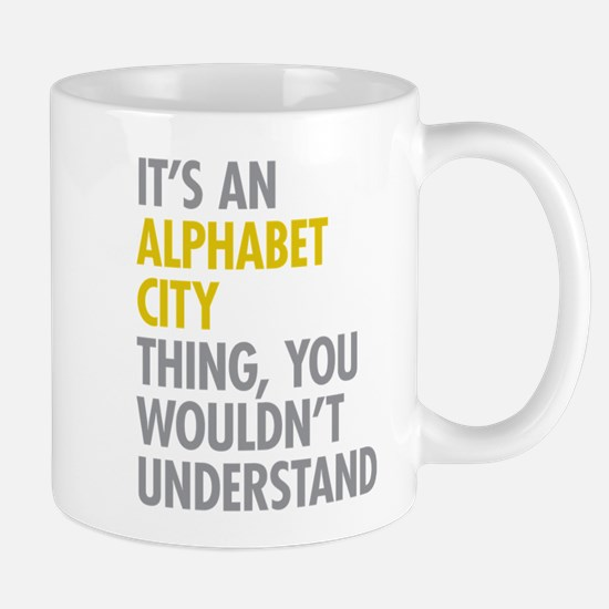 Alphabet City Thing Mug