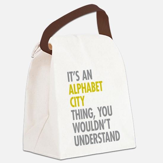 Alphabet City Thing Canvas Lunch Bag