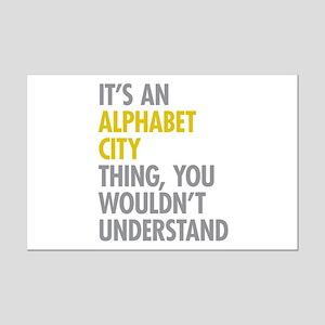 Alphabet City Thing Mini Poster Print