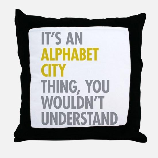 Alphabet City Thing Throw Pillow