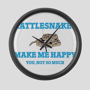 Rattlesnakes Make Me Happy Large Wall Clock