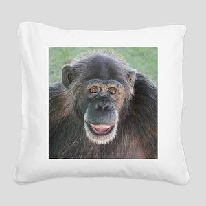 April - Save the Chimps Square Canvas Pillow