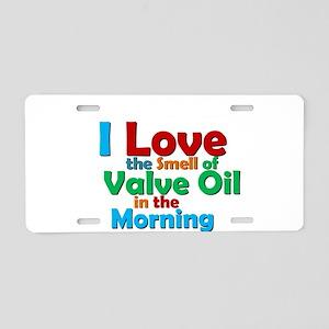 Valve Oil Aluminum License Plate