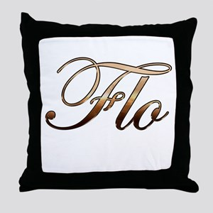 Gold Flo Throw Pillow