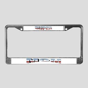 SuperMom License Plate Frame