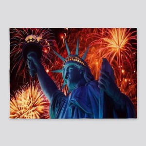 Lady Liberty 5'x7'Area Rug