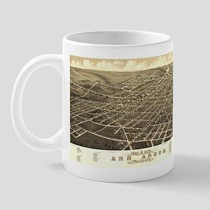 Vintage map of Ann Arbor, MI Mug