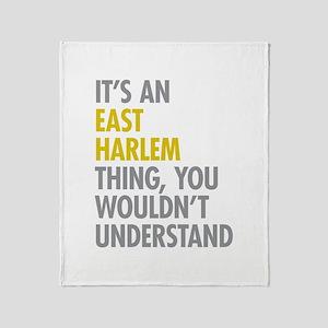 East Harlem Thing Throw Blanket