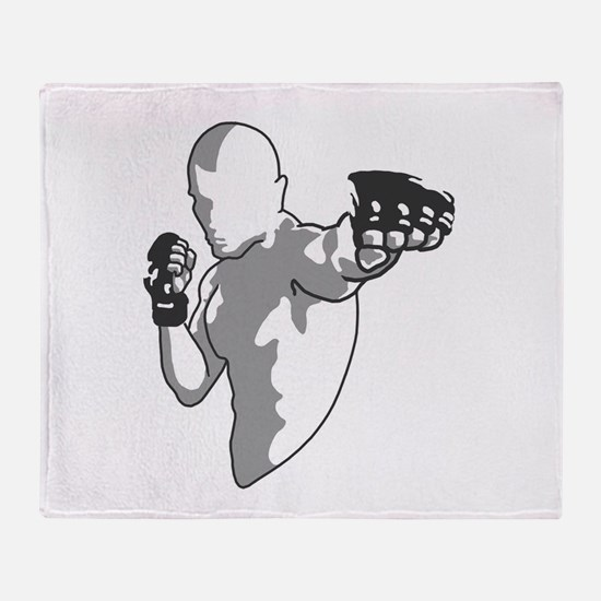 Fighter Punch Throw Blanket