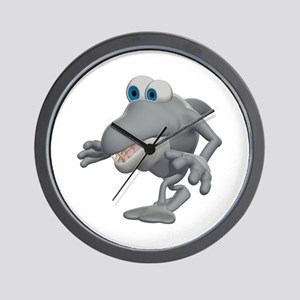 Funny Sneaky Shark Wall Clock