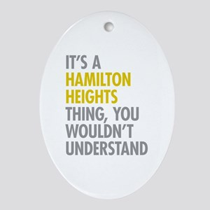 Hamilton Heights Thing Ornament (Oval)