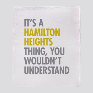 Hamilton Heights Thing Throw Blanket