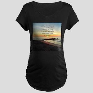 SERENITY PRAYER Maternity Dark T-Shirt