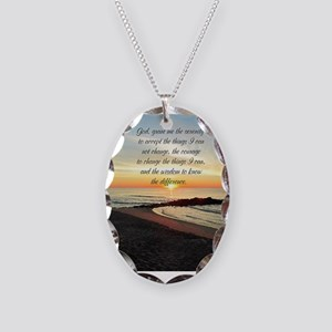 SERENITY PRAYER Necklace Oval Charm