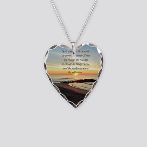 SERENITY PRAYER Necklace Heart Charm