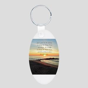 SERENITY PRAYER Aluminum Oval Keychain