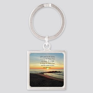 SERENITY PRAYER Square Keychain