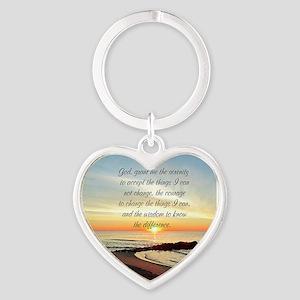 SERENITY PRAYER Heart Keychain