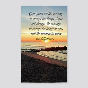 SERENITY PRAYER 3'x5' Area Rug