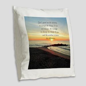 SERENITY PRAYER Burlap Throw Pillow