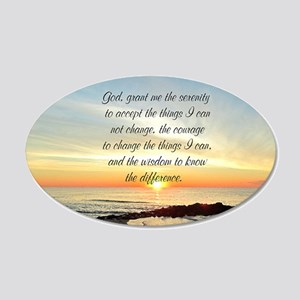 SERENITY PRAYER 20x12 Oval Wall Decal