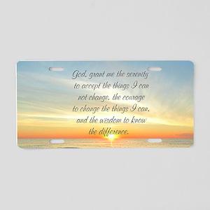 SERENITY PRAYER Aluminum License Plate