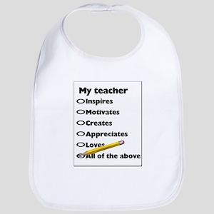Teacher Appreciation Gifts Bib