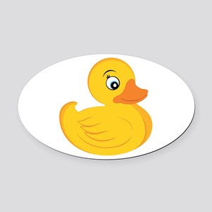 Rubber Ducky Oval Car Magnet