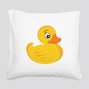 Rubber Ducky Square Canvas Pillow