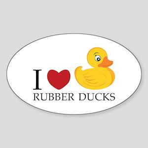 Love Rubber Ducks Sticker
